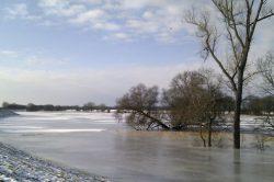 die Elbe im Winter
