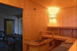Sauna innen nach aussen gesehen