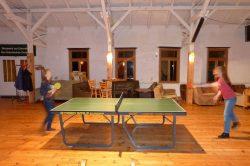 es gibt 2 Tischtennisplatten